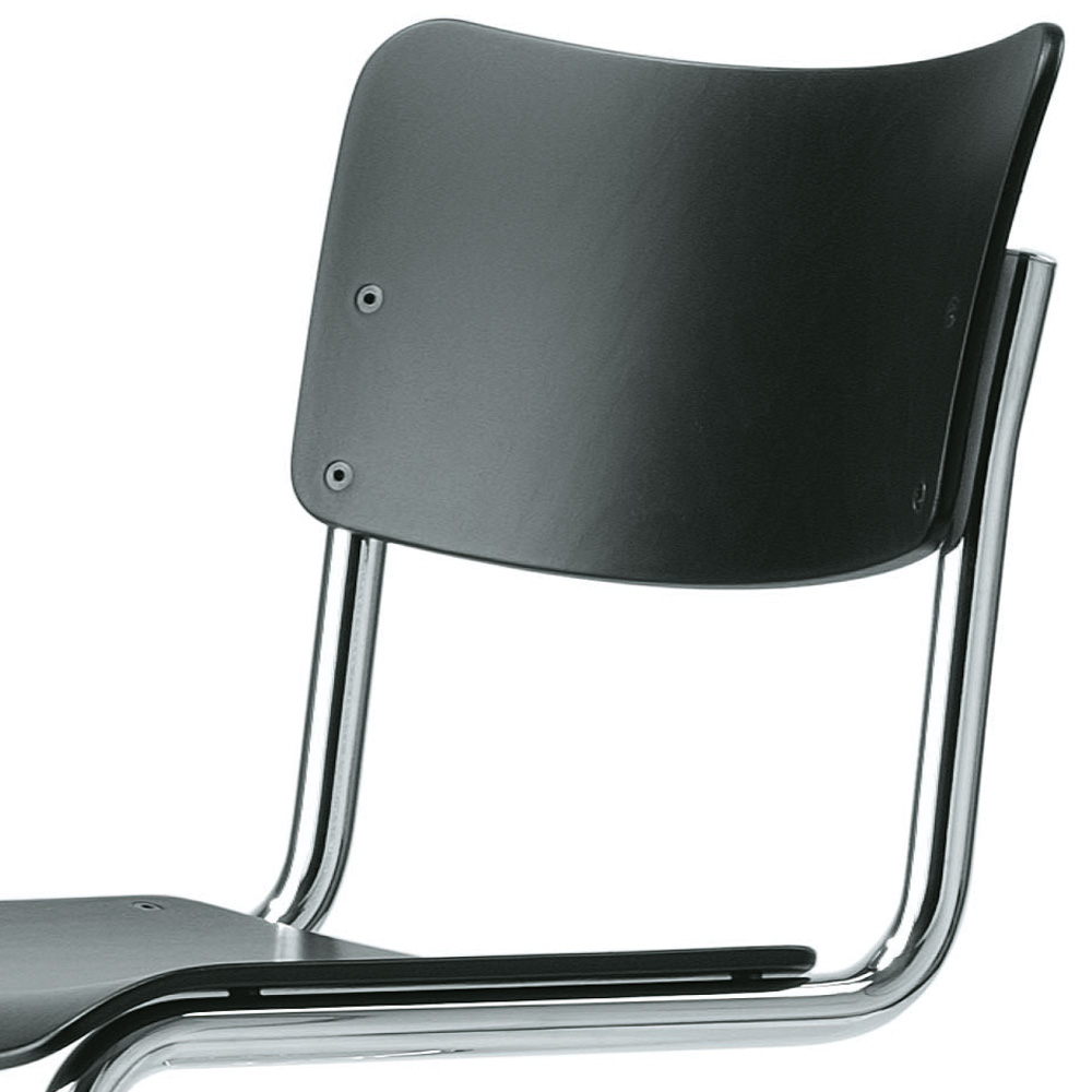 thonet s 43 schwarz gebeizt stuhl freischwinger mart stam. Black Bedroom Furniture Sets. Home Design Ideas