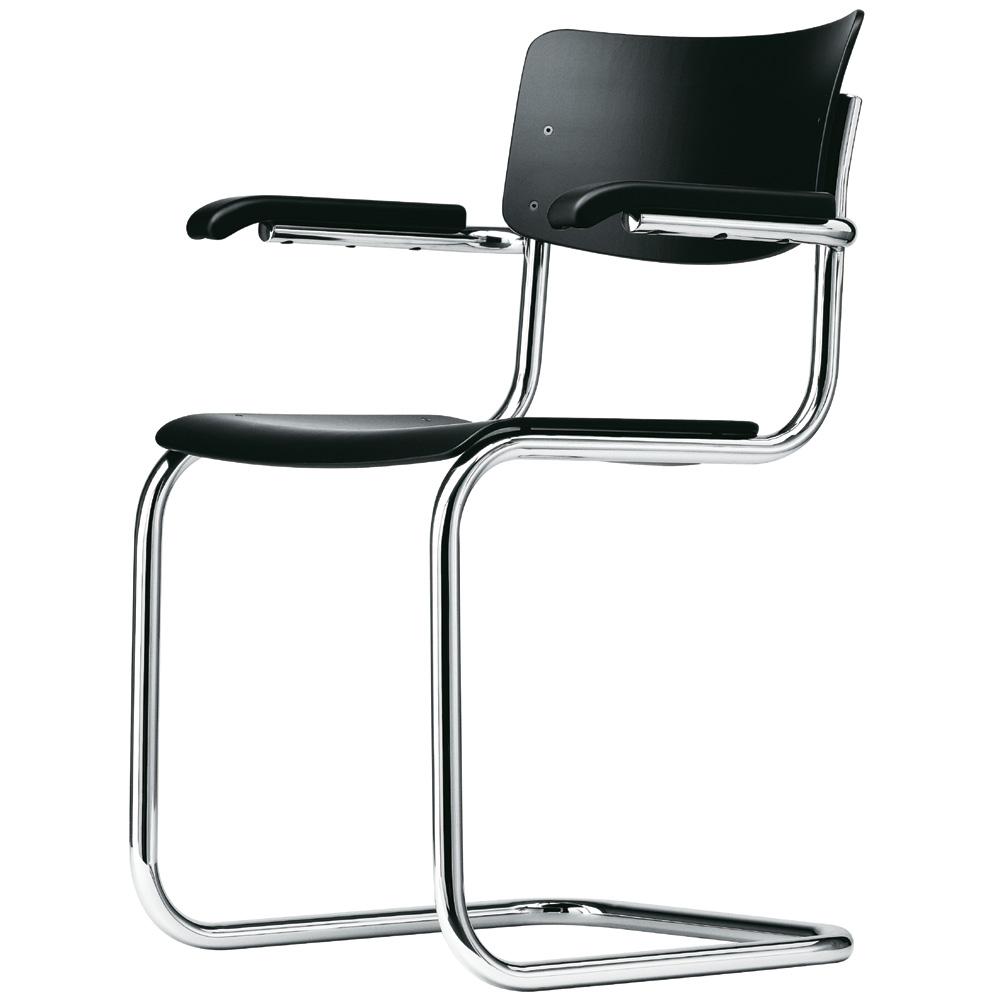 mart stam thonet thonet vintage items thonet s 43 schwarz gebeizt stuhl freischwinger mart. Black Bedroom Furniture Sets. Home Design Ideas