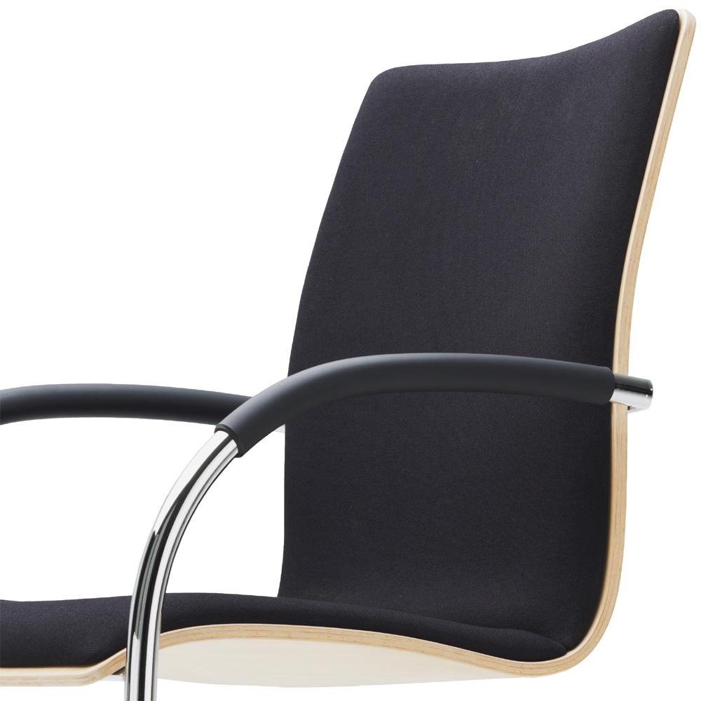thonet s 81 p freischwinger leder schwarz stahlrohrstuhl armlehnenstuhl. Black Bedroom Furniture Sets. Home Design Ideas
