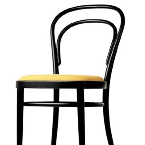 thonet 214 p gepolsterter sitz kaffeehausstuhl holzstuhl designerstuhl. Black Bedroom Furniture Sets. Home Design Ideas
