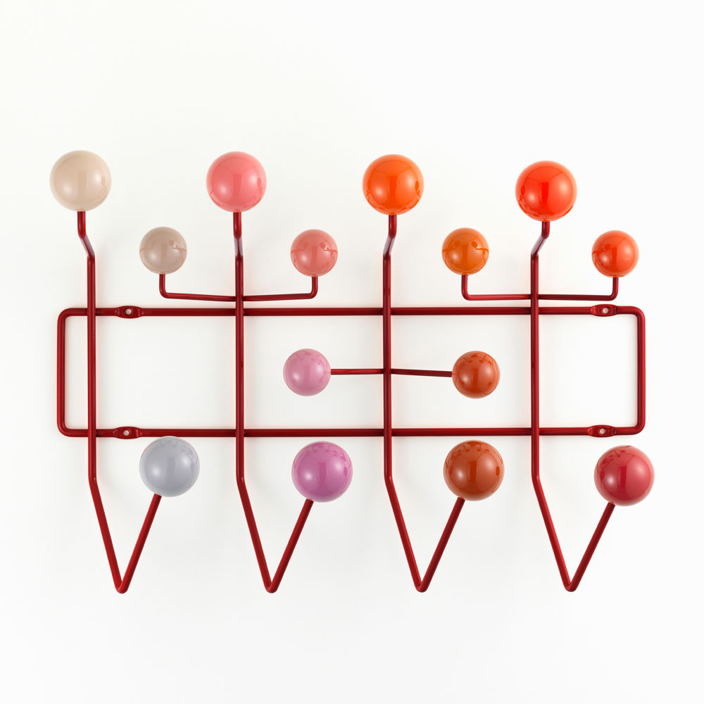 Hang It All Garderobe Rot - Vitra 20119101 - Charles & Ray Eames