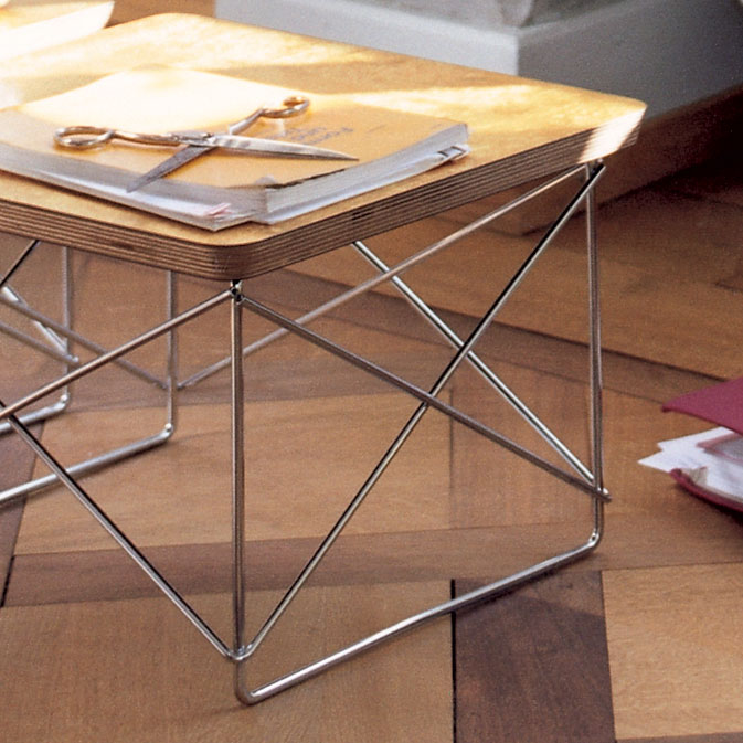 Vitra Occasional Table Ltr Beistelltisch Blattgold Verchromt 20119509