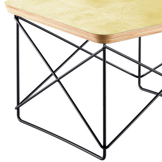 vitra occasional table ltr beistelltisch blattgold schwarz charles eames. Black Bedroom Furniture Sets. Home Design Ideas
