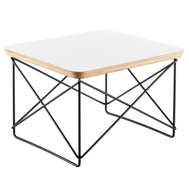 Eames Beistelltisch vitra occasional table ltr beistelltisch weiß schwarz eames 20119533
