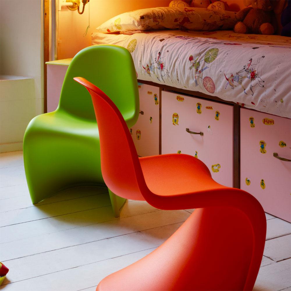 vitra panton junior dark lime limette kinderstuhl verner panton 21019620. Black Bedroom Furniture Sets. Home Design Ideas