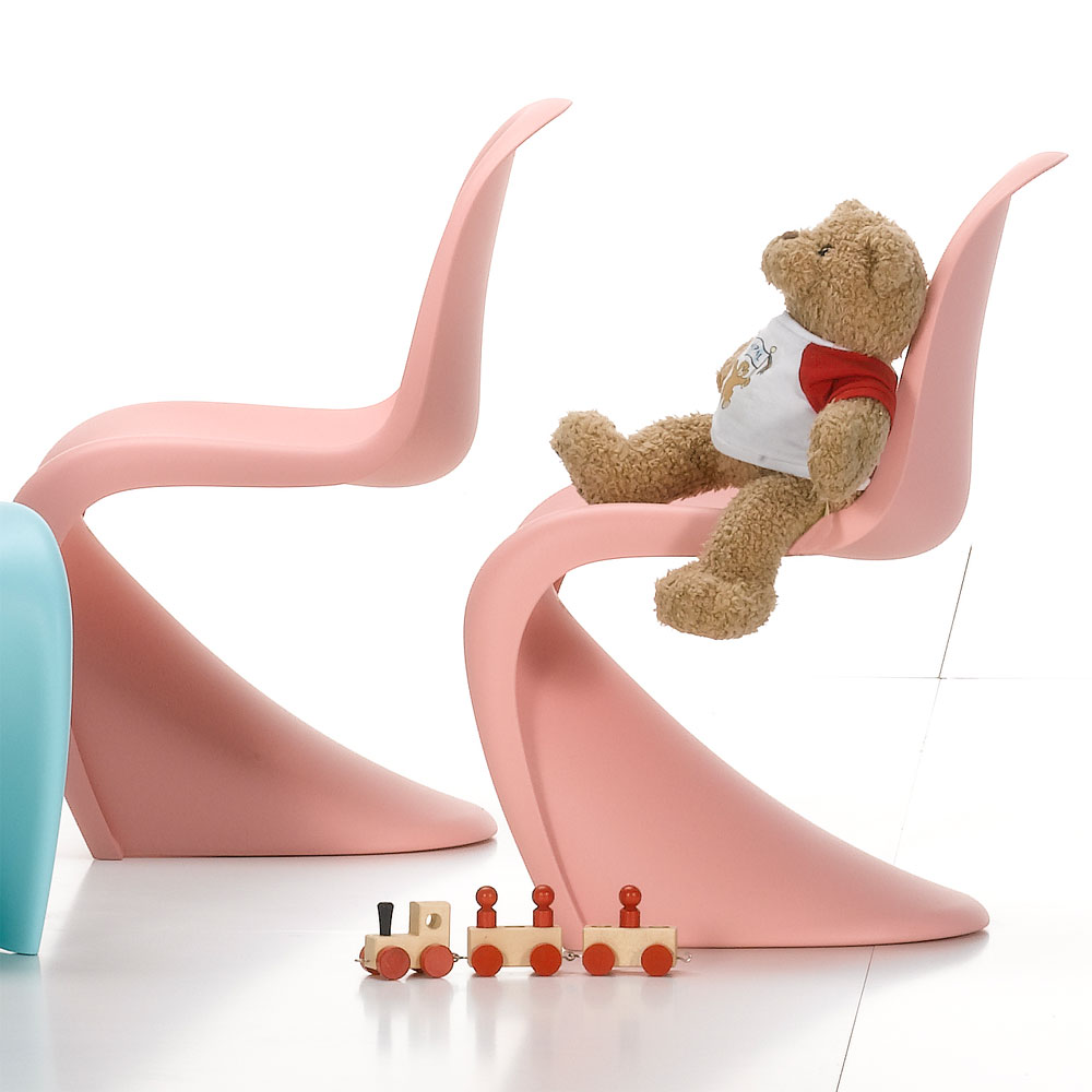 vitra panton junior kinderstuhl hellrosa verner panton 21019615 matt. Black Bedroom Furniture Sets. Home Design Ideas