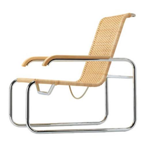 thonet s 35 r sessel korbgeflecht stahlrohrsessel marcel breuer lounger. Black Bedroom Furniture Sets. Home Design Ideas