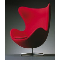 The Egg Chair / Das Ei Sessel auf Sternfuß [Modell 3316/ 3319] - Fritz Hansen - Arne Jacobsen Loungesessel