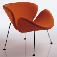 Orange Slice F 437 B Sessel & Hocker P 437 - Artifort - Pierre Paulin Polstersessel