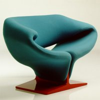Ribbon Chair F 582 Sessel & Hocker P 582 - Artifort - Pierre Paulin Polstersessel