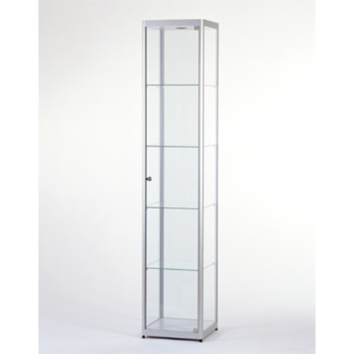 vitrine glasvitrine aluminium stahl b chervitrinen m bel. Black Bedroom Furniture Sets. Home Design Ideas